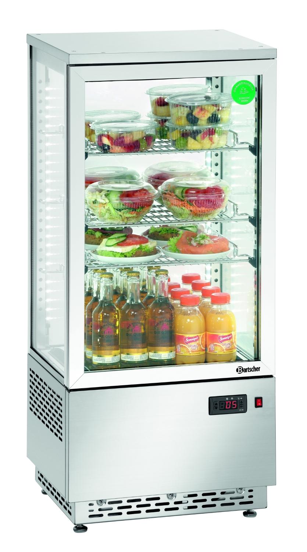 Mini-Kühlvitrine 78L, Edelstahl