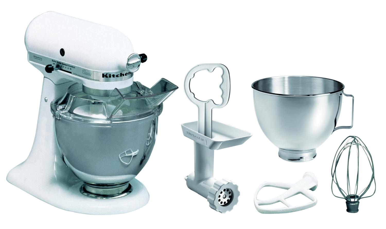 Kitchen Aid 5KSM45EWHMP, weiß,4,28L